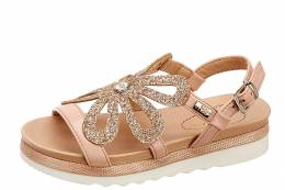 MISS SIXTY J SANDALS GIRLS S21 S00MS970 PINK/GOLG